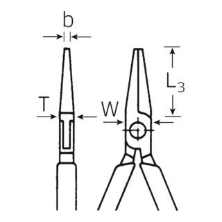 Stahlwille 6526 Elektronik-Rundzange für Elektronik 125 mm poliert mit Kunststoff überzogen, ESD-geeignet