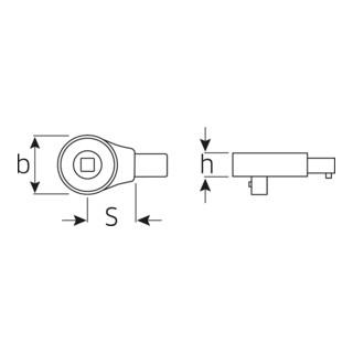 Stahlwille 735/100 Einsteckknarre 3/4'' für Werkzeugaufnahme 22x28 mm