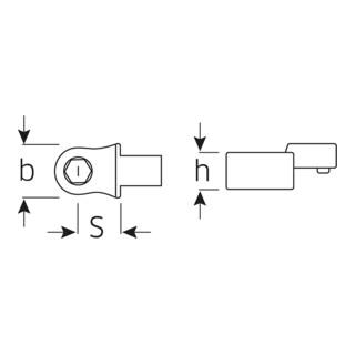 Stahlwille 736 Bit-Halter-Einsteckwerkzeuge Gr. 10-1'' D 6,3 für Werkzeugaufnahme 9x12 mm