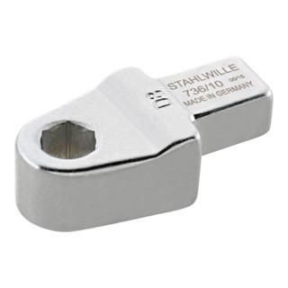 Stahlwille 736 Bit-Halter-Einsteckwerkzeuge Gr. 10-1''; D 6,3; für Werkzeugaufnahme 9x12 mm