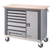Stahlwille Fahrbare Werkbank 7 Schubladen anthrazitgrau, RAL 7016 L.1150 mm x B.500 mm x H.1030 mm