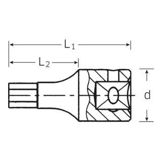 """Stahlwille INHEX-Einsatz (1/4"""") SW.3 mm L.28 mm"""