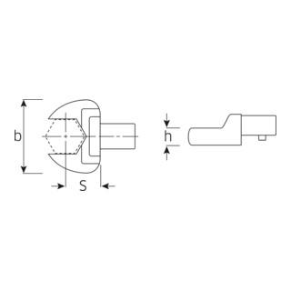Stahlwille Maul-Einsteckwerkzeuge 731/10 für Werkzeugaufnahme 9x12
