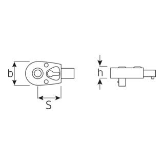 Stahlwille QuickRelease-Einsteckknarren für Werkzeugaufnahme 725QR
