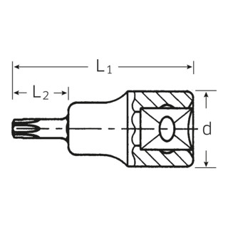 """Stahlwille Schraubendrehereinsatz (3/8"""") TORX T30 L.49 mm"""