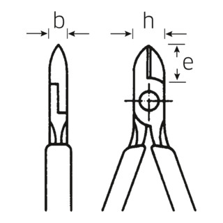 Stahlwille VDE-Seitenschneider L.140 mm Kopf verchromt Griffe isoliert, m.Ku.Hülle DIN EN 60900, isol.1000V AC/1000 V