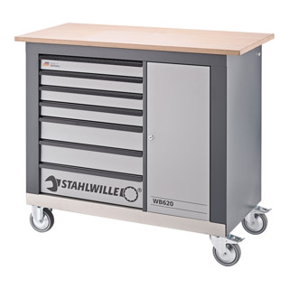 Stahlwille WB 620 Fahrbare Werkbank Farbe charc...
