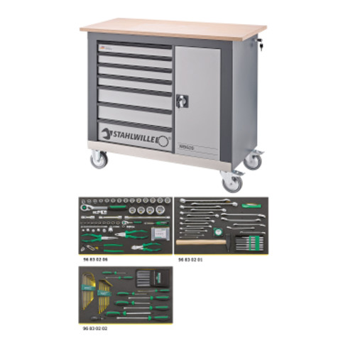 Stahlwille Werkzeugsortiment m.Werkbank WB 620/132QR