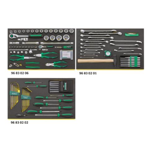 Stahlwille Werkzeugsortiment mit Werkstattwagen Anzahl Schubl.6 anthrazitgrau, 98830107