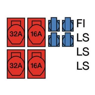 Standstromverteiler CEE-32 A,5-polig 2xCEE 32 A,2xCEE 16 A,4x230V