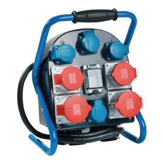 Standstromverteiler IP44 32A 400V 5polig H07RN-F5 G 4mm2 je 2xCEE 32+16A 4x230V