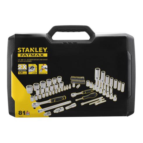 """Stanley Steckschlüssel Set ½"""" + ¼"""", 81-teilig"""