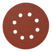 Starcke Papier-Klett-Schleifscheibe (A) Lochung 8fach,⌀ 125 mm, Körnung: 40