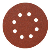 Starcke Papier-Klett-Schleifscheibe (A) Lochung 8fach,⌀ 125 mm, Körnung: 600