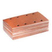Starcke Schleifpapier-Set 50-teilig Lochung 8fach, Körnung: 120, (L x B: 185 x 93 mm)