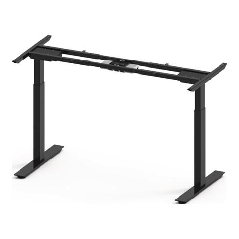 Steh-Sitz Tischgestell schwarz RAL 9017 H.695-1145mm BMB