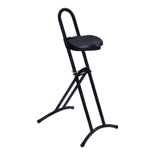 Stehhilfe Gestell silber Sitz schwarz Raster-Höhenverstellung