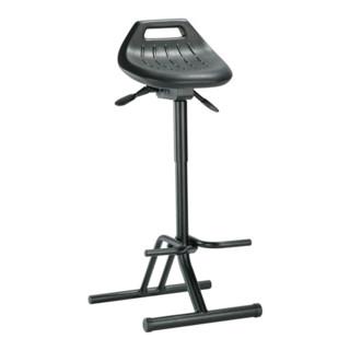 Stehhilfe Profi m.klappbarer Fußablage schwarz Sitz-H.640-840mm BIMOS