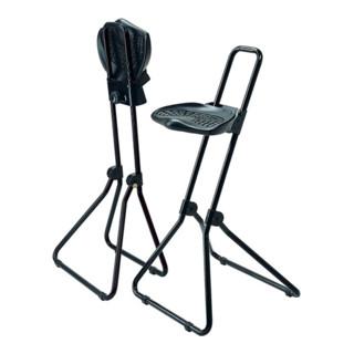 Stehhilfe schwarz PU-Schaum klappb. Sitz-H.480-850mm