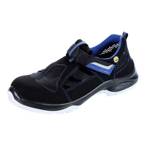 Steitz SECURA Sandale schwarz AL 711 PLUS ESD, S1 NB, EU-Schuhgröße: 46