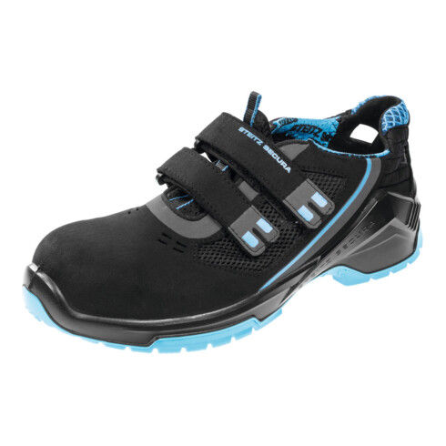 Steitz SECURA Sandale schwarz/blau VD PRO 1000 VF ESD, S1P NB, EU-Schuhgröße: 48