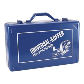 Stichsägekoffer blau 390x240x112mm Stahlblech m.Ku.-Einlage