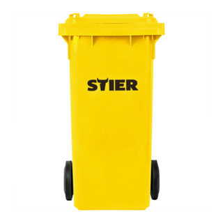STIER 2-Rad-Müllgroßbehälter 120 l gelb BxTxH 475x550x930 mm