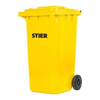 STIER 2-Rad-Müllgroßbehälter 240 l gelb BxTxH 576x720x1067 mm