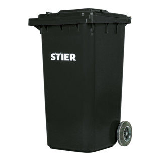STIER 2-Rad-Müllgroßbehälter 240 l grau BxTxH 576x720x1067 mm
