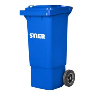 STIER 2-Rad-Müllgroßbehälter 80 l blau BxTxH 445x520x939 mm