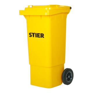 STIER 2-Rad-Müllgroßbehälter 80 l gelb BxTxH 445x520x939 mm