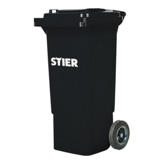 STIER 2-Rad-Müllgroßbehälter 80 l grau BxTxH 445x520x939 mm