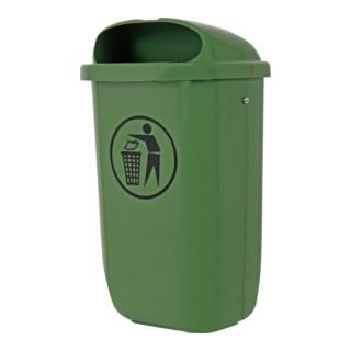 STIER Abfallbehälter mit Regenhaube 50 l