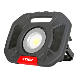 STIER Akku-COB-LED Baustrahler 5200 mAh 4000 Lumen 40W mit integr. Lautsprecher