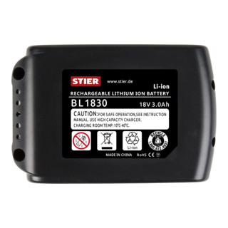 STIER Akku für Makita Typ BL1830, 3,0 Ah, 18 V