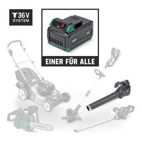 STIER Akku-Laubbläser SLG-92 + Akku 36V 4,0 Ah + Schnellladegerät 36V 3A