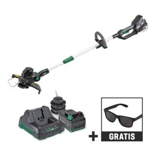 STIER Akku-Rasentrimmer SRT-75 + 2,5 Ah Akku + Schnellladegerät + gratis STIER Sonnenbrille