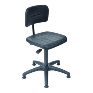 STIER Arbeitsstuhl mit Gleitern Sitzhöhe 440-630 mm PU-Sitz