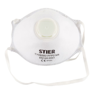 STIER Atemschutzmaske FFP2 mit Ventil EN 149:2001 10Stk.