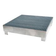 STIER Auffangwanne verzinkt für 4x200l Fässer 1200x1200x290 mm