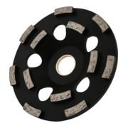 STIER Diamant-Schleiftopf Ø130mm Bohrung 25,0 / 22,23 mm Altbeton/Epoxidharz, Diamantschleifteller