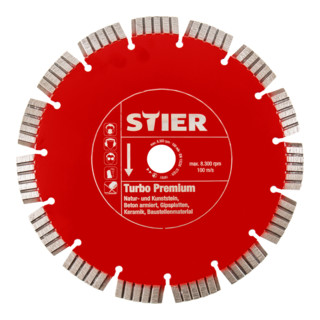 STIER Diamanttrennscheibe Turbo Premium