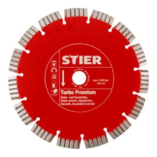 STIER Diamanttrennscheibe Turbo Premium Ø230mm Bohrung 22,23mm