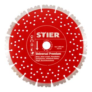STIER Diamanttrennscheibe Universal Premium Ø230mm Bohrung 22,23mm