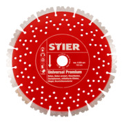 STIER Diamanttrennscheibe Universal Premium Ø350 mm Bohrung 20 / 25,4 mm