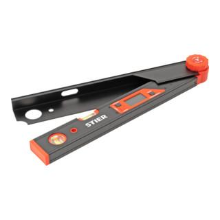 STIER Digitaler Winkelmesser SDW 450 LCD-Display ±0,1° Aluminium 450 mm