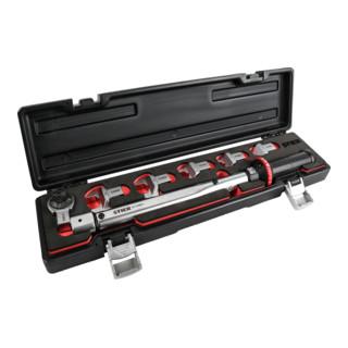 STIER Drehmomentschlüssel Multi+ mit Aufsteckwerkzeug, 7-teilig, 40 - 200 Nm, vierkant