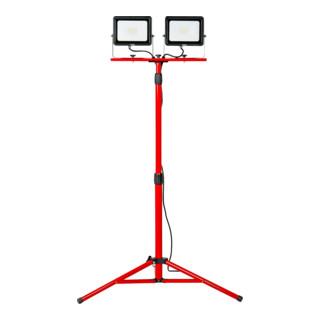 STIER Duo SMD-LED-Baustrahler 2x30W 2x2400 Lumen mit Stativ