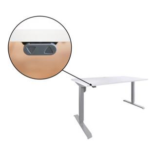 STIER Elektrisch Höhenverstellbarer Schreibtisch 501-33 Weiß mel. 68-118cm