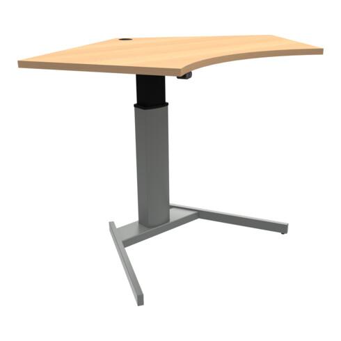 STIER Elektrisch höhenverstellbarer Steh-Tisch 501-19 138x92cm Buche mel. 68-120cm